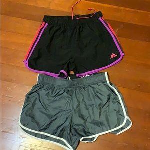 Lot of 2 Running shorts XS Adidas & VS